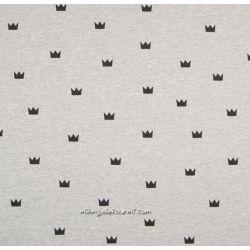 Molleton gris couronnes