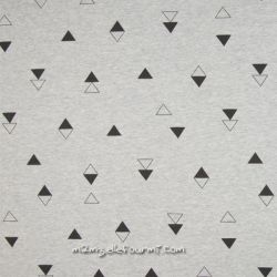 Molleton gris mixed triangles