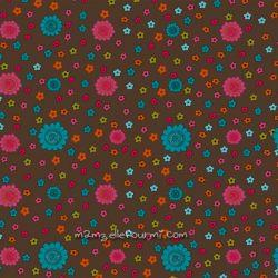 velours fleurs chocolat