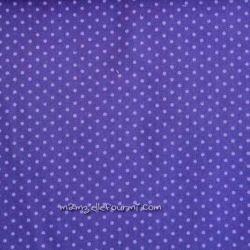 Velours pois violet/violet