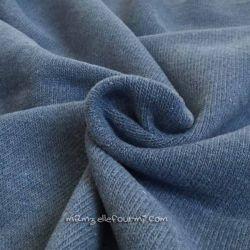 Maille merveilleuse bleu jean