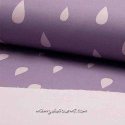 Softshell imprimé gouttes lilas