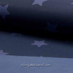 Softshell imprimé étoiles marine/jean
