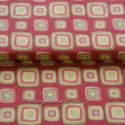 Jersey retro blocks rouge