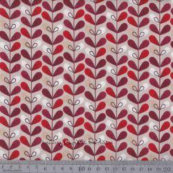 Cretonne scandy sable/rouge