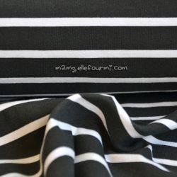 Jersey marinière noir