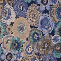 Jersey imprimé coranthe bleu