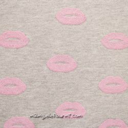 Sweat glitter lips rose