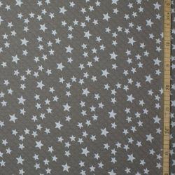 Matelassé bio taupe étoiles blanches