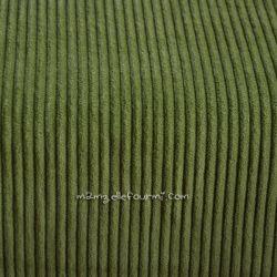 Velours grosses côtes vert olive