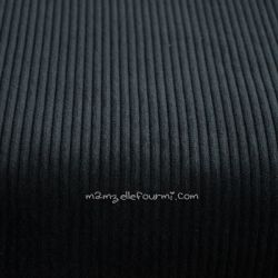 Velours grosses côtes noir