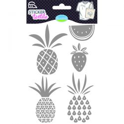 Sticker textile fruits exotiques glitter