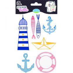 Sticker textile thème marin