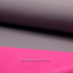 Softshell gris/fuchsia