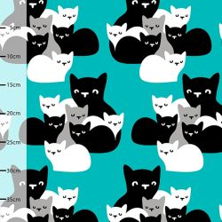 Jersey bio chatons turquoise