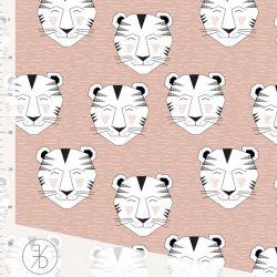 Jersey bio tiger dusty pink