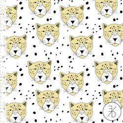 Jersey bio leopard blanc