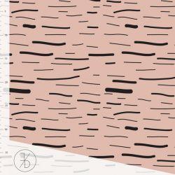 Jersey bio stripe dusty pink