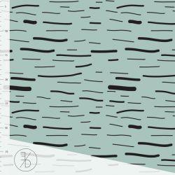 Jersey bio stripe dusty mint