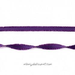 Élastique à double volant violet