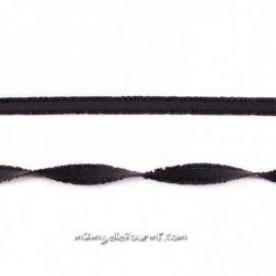 Élastique à double volant noir