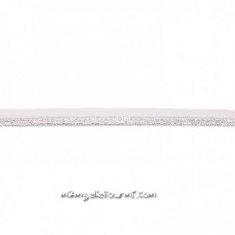 Élastique glitter ivoire/argent