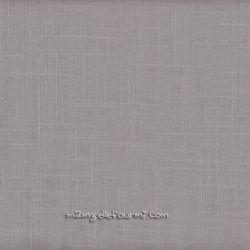 Lin/coton enduit gris clair