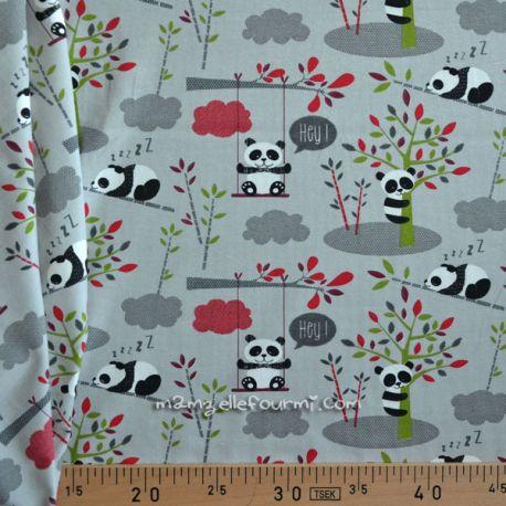 Jersey imprimé panda gris
