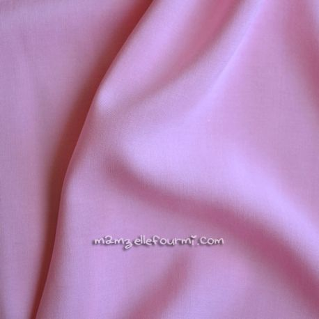 Viscose unie rose