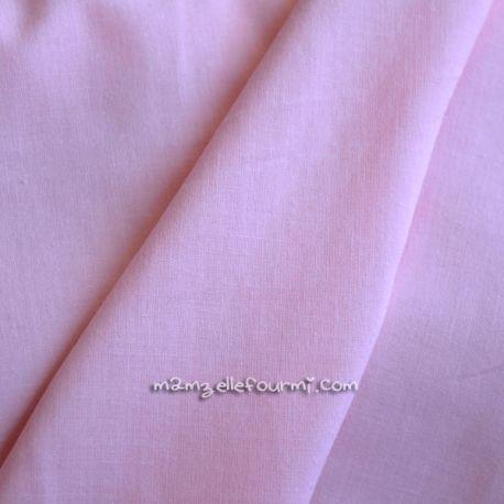 Batiste unie rose pâle