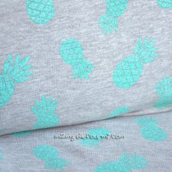 Molleton ananas glitter vert