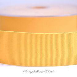 Gros grain élastique 36mm Frou-Frou jaune paille