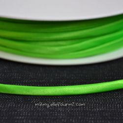 Cordon Frou-Frou satin vert fluo
