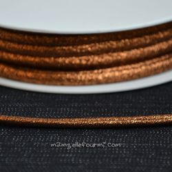 Cordon Frou-Frou scintillant cuivre