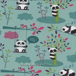 Jersey imprimé panda vert