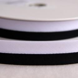 Biais bicolore noir et blanc