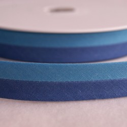 Biais bicolore bleu