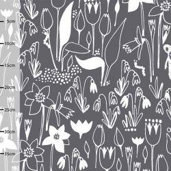 Jersey bio hippu's garden gris foncé