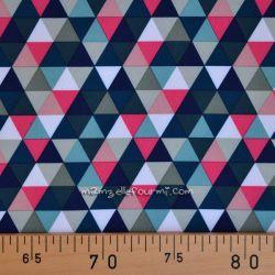 Softshell imprimé triangles rose