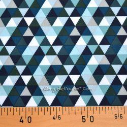 Softshell imprimé triangles bleu