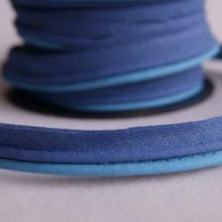 Double passepoil bicolore bleu