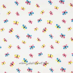 Jersey papillons multicolore glitter