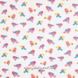 Jersey oiseaux multicolore glitter