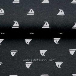 Jersey bio voiliers noir