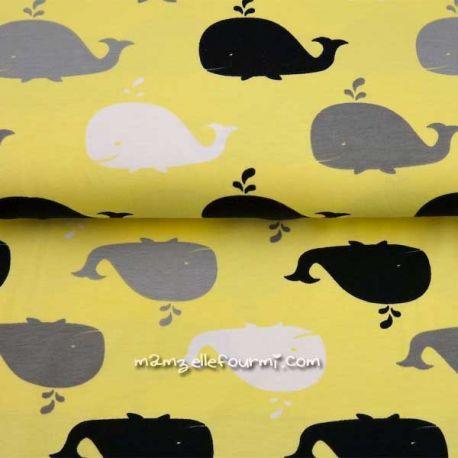 Jersey bio baleines jaune