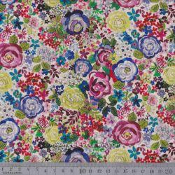 Coton rosebud multicolore