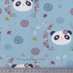 Sweat miss panda bleu clair