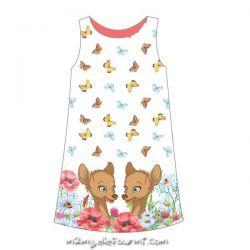 Popeline bambi brun