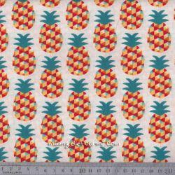 Cretonne mini ananas rouge