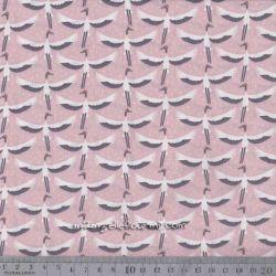 Coton grue blush/gris